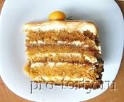 морковный торт с карамелью