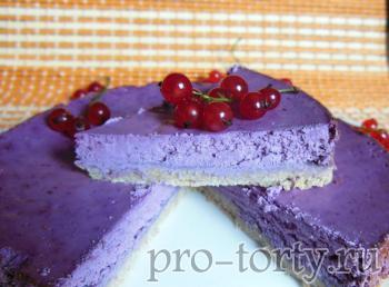 Творожный торт с ягодами