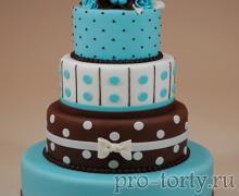 свадебный торт с бирюзой