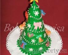 торт Елочка новогодняя