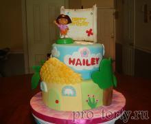 торт с Дашей из мастики