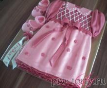 торт платье девочке