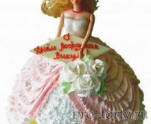 платье из крема торт