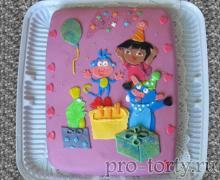 торт с Дашей и Башмачком День рождения