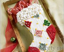 торт сапог Новый год