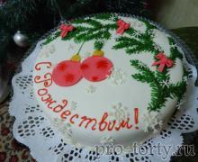 торт с Рождеством Христовым