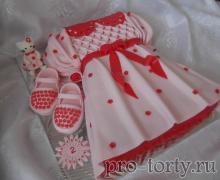 торт девочке с туфельками