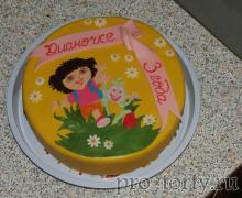 Даша, Башмачок и Лисенок-жулик торт