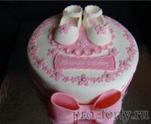 торт девочке 1 год