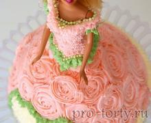 торт кукла кремовая