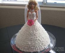 торт кукла невесто фото