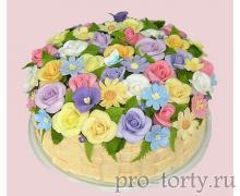 торт для женщины - украшение кремом