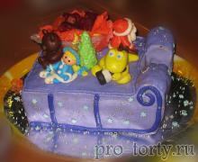 торт с Дедом Морозом и Снегурочкой