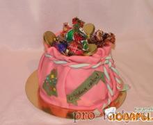 торт мешочек на Новый год