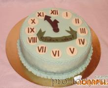 торт часы Новый год