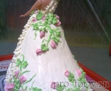 торт платье для куклы