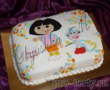 прямоугольный торт с Дашей