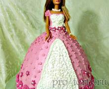 торт кукла Барби фото