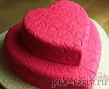 свадебный торт розовый