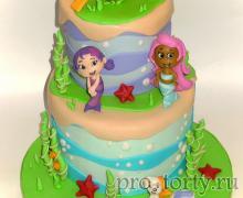 торт Гуппи и пузырьки фото