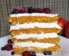 Морковный диетический торт рецепт с фото