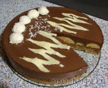 шоколадно-банановый торт разрез