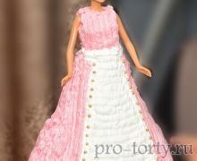 торт кукла с кремом фото
