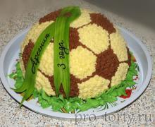 торт мяч украшение кремом