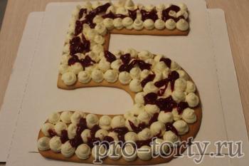 украшение торта цифра 5