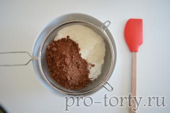 подготовка к выпечке торта Делиция