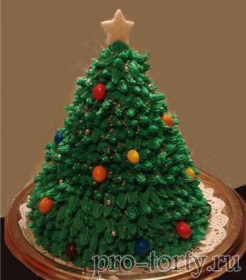 украшение торт елочки кремом
