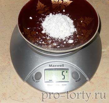 сахарная пудра в рецепте для кружева