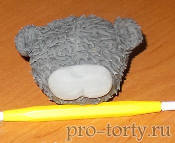 как слепить мишку тедди из мастики