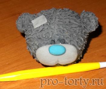 как лепить мишку тедди из мастики