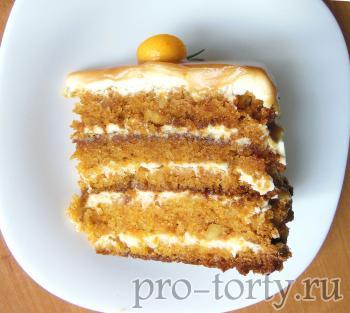 морковный торт с карамелью фото