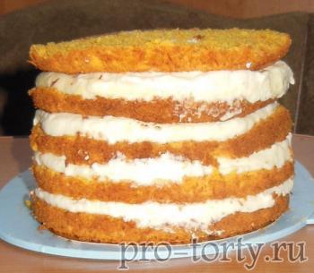 морковно-апельсиновый торт фото