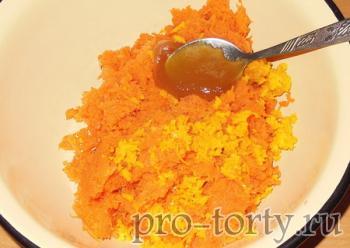 морковь в бисквите