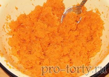 приготовление бисквита с морковью
