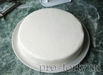 как покрыть круглый торт мастикой