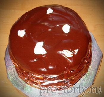 мраморный рисунок на торте