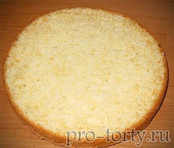 простой бисквит разрез фото