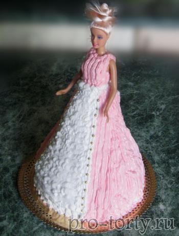 юбка из крема для торта Кукла Барби