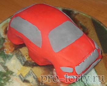 торт машина из мастики фото