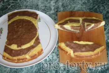 бисквит для торта в виде машинки