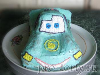глаза на торте машинке