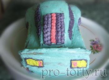 оформление окон на торте машина