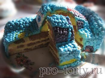 разрез торта машинка