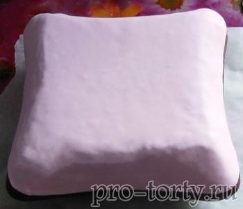 как сделать торт подушка пошагово
