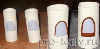 окошки на башнях из мастики