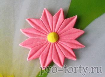 как сделать цветы из мастики без вырубок